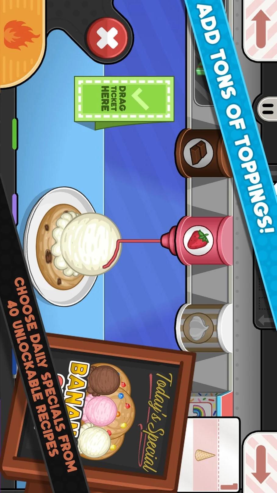 老爹冰淇淋店游戏截图
