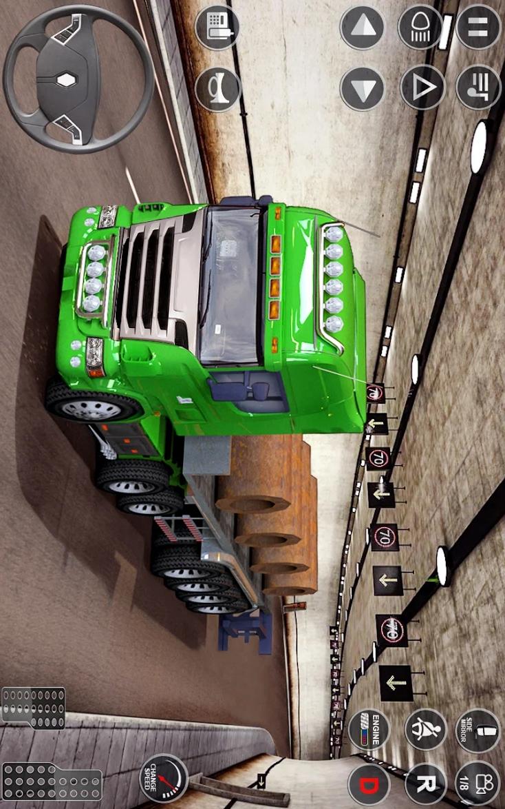 欧洲卡车驾驶模拟器3D游戏截图