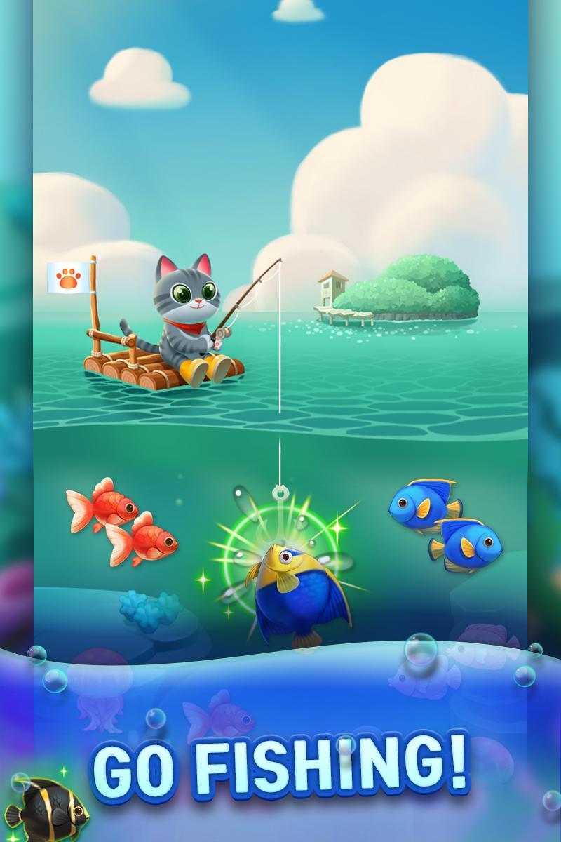 萨莎猫钓鱼游戏截图