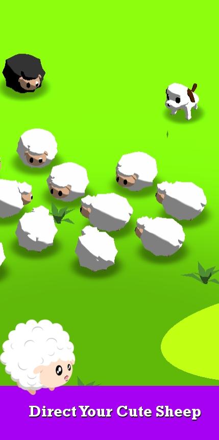 萌犬赶羊益智3D游戏截图