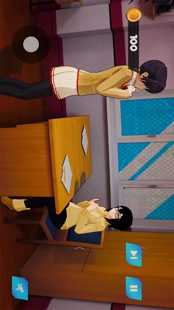 动漫高中樱花女孩生活:3D模拟器游戏截图